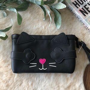 Luv betsy by Betsy Johnson black cat wristlet